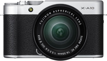 Fujifilm X-A10 Mirrorless Digital Camera + 16-50mm Lens Silver