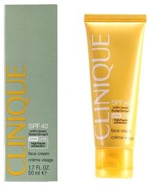 Sauļošanās krēms Clinique Broad Spectrum Sunscreen Face Cream SPF40, 50 ml