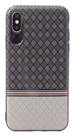 Mocco Trendy Grid And Stripes Pattern 2 Back Case For Samsung Galaxy S8 Grey