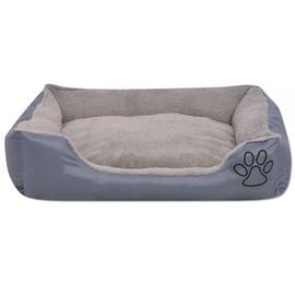 Кровать для животных VLX Dog Bed, серый, 900x700 мм