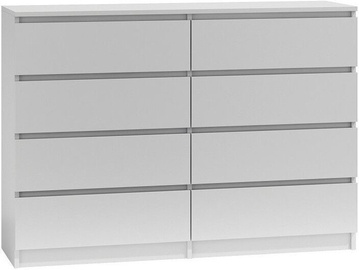 Top E Shop Malwa M8 Chest of 8 Drawers 140cm White