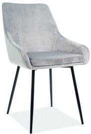 Стул для столовой Signal Meble Albi Velvet Light Grey/Black, 1 шт.