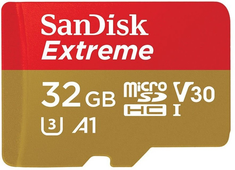 SanDisk Extreme 32GB microSDHC UHS-I U3