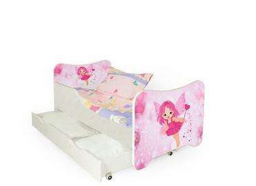 Vaikiška lova Halmar Happy Fairy White/Pink, 145x76 cm