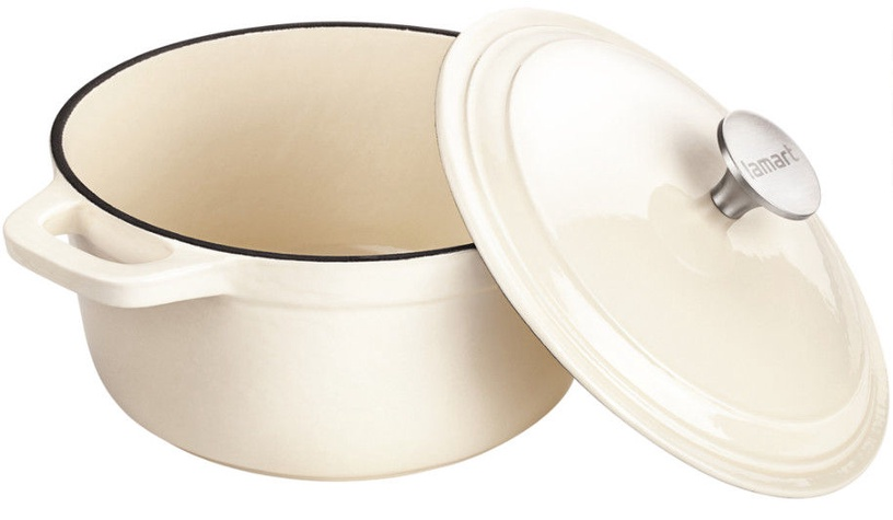 Lamart Cast Iron Pot with Lid LT 1060 Cream