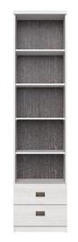 Black Red White Namur REG2S Shelf Siberian Larch/Grey Print