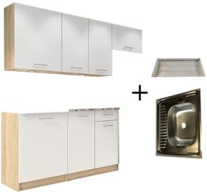 Кухонный гарнитур Tuckano Complete L, белый, 2 м