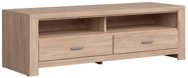 TV staliukas Black Red White Luttich Wood, 1600x540x510 mm