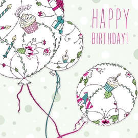 Clear Creations Birthday Balloons Card CL1905