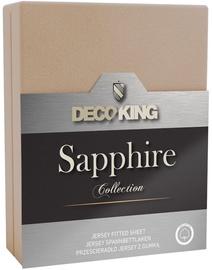 Palags DecoKing Sapphire, smilškrāsas, 220x200 cm, ar gumiju