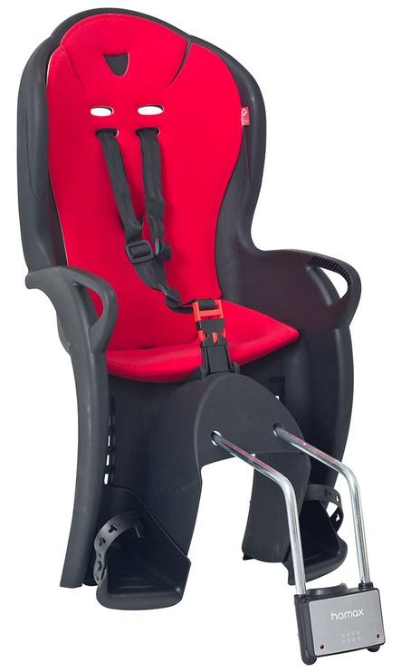Детское кресло для велосипеда Hamax Kiss 551043, черный/красный, задняя