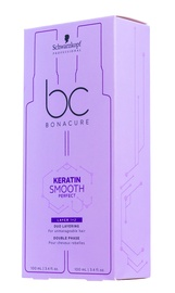 Schwarzkopf BC Bonacure Keratin Smooth Perfect Double Phase Anti-Frizz Shield 100ml + Taming Lotion 100ml