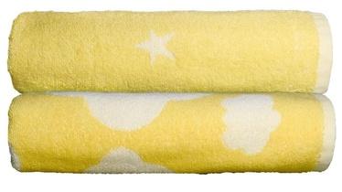 Полотенце Ardenza Clouds Stars, белый/желтый, 120 см x 70 см, 2 шт.