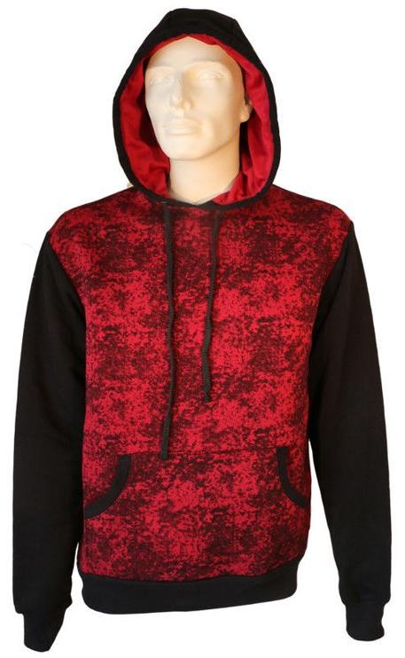 Bars Mens Hoodie Black/Red XL