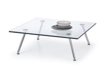 Kavos staliukas Solo 4 skaidrus, 90 x 90 x 30 cm