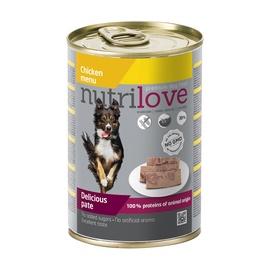 Konservuotas ėdalas šunims Nutrilove Delicious Pate, su vištiena, 400 gr