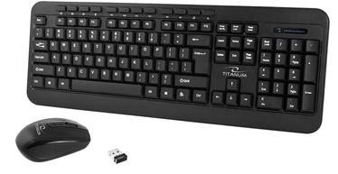 Esperanza Titanum TK109 Akron Wireless Keyboard And Mouse Black