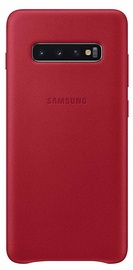 Samsung Leather Cover For Samsung Galaxy S10 Plus Red