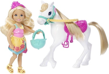 Mattel Barbie Chelsea And Pony DLY34