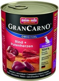 Animonda GranCarno Senior Beef & Turkey Hearts 800g