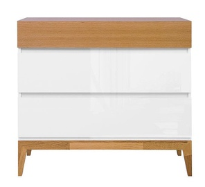 Black Red White Kioto Chest Of Drawers 40x97x88.5cm White Oak