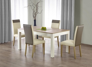 Pusdienu galds Halmar Seweryn, balta/ozola, 1600 - 3000x900x760mm