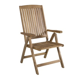 Home4you Finlay Adjustable Garden Chair Acacia