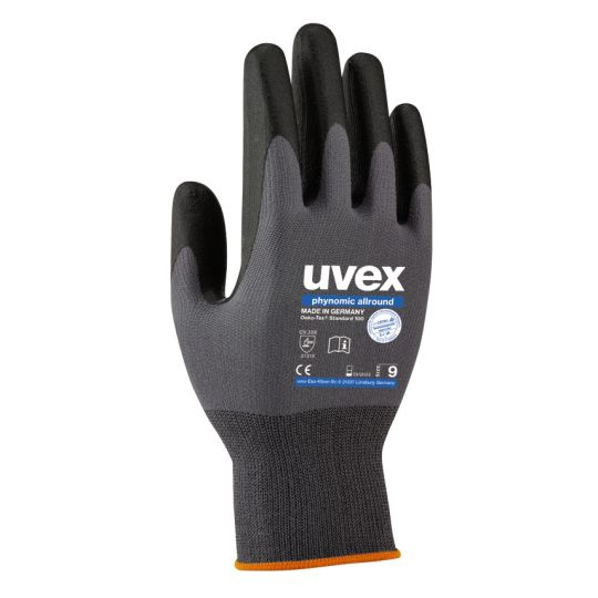 Рабочие перчатки Uvex Universal Work Gloves Polyamide Allround Grey 9cm
