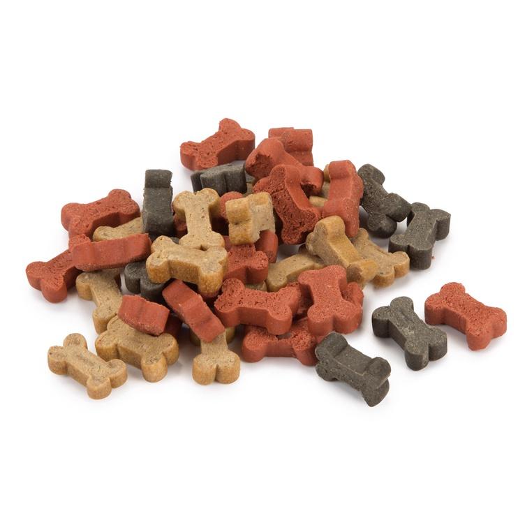 Skanėstai šunims Beeztees Mini Bones Mix, su vištiena ir lašiša, 500 gr