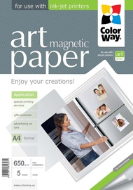 ColorWay Photo Paper A4 650 ART Matte Magnetic 5 Pages