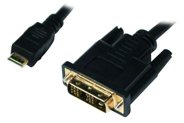 LogiLink Cable Mini HDMI / DVI-D 2m Black