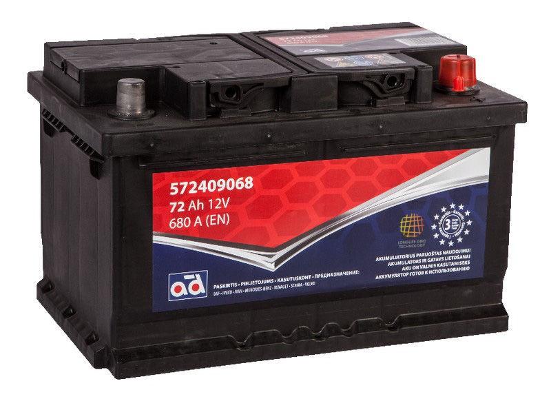 AD Baltic 572409068 Starter Battery 72Ah