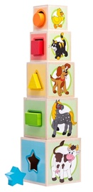 Klucīši Woodyland Stacking And Nesting Blocks 95005, 10 gab.