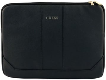 "Guess Saffiano Design Universal Pouch With Zipper 13"" Black"