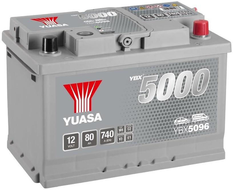 Аккумулятор Yuasa, 12 В, 80 Ач, 740 а