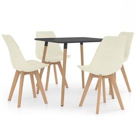 Обеденный комплект VLX 5 Piece 3057132, кремовый/серый/коричневый