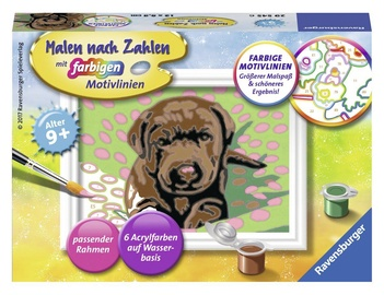 Ravensburger Painting By Numbers Little Doggy 295456