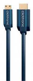 Clicktronic Cable HDMI To Mini HDMI 2m Blue