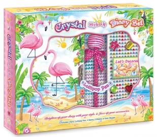 Dekoravimo rinkinys Pulio Pecoware Crystal Style Up Diary Set 191FM Flamingo