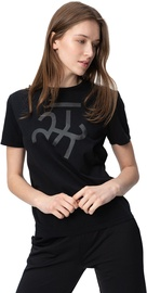 Audimas Womens Short Sleeve Tee Black Printed L