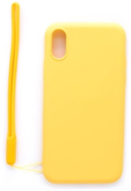 Evelatus Soft Touch Back Case With Strap For Apple iPhone X/XS Yellow