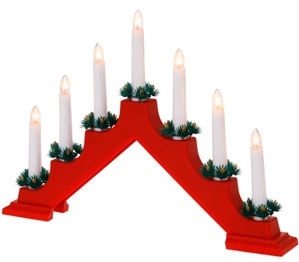 Verners Candlestick Plastic 40x31cm Red