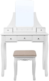 Songmics Vanity Table White/Beige 80x40x137.5cm