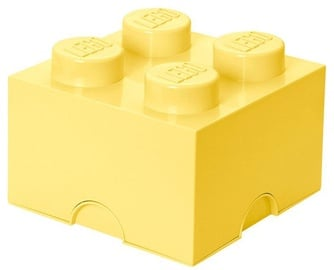 LEGO Storage Brick 4 Knobs Medium Cool Yellow