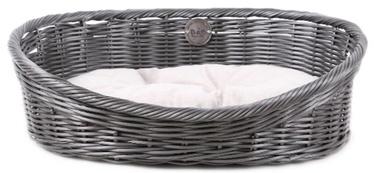 Кровать для животных D&D Rustic Rattan M, серый, 580x440 мм