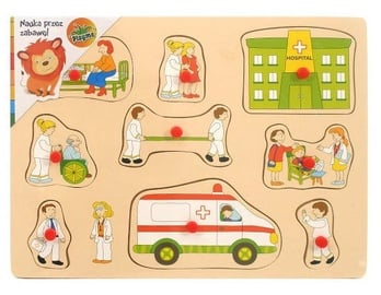 Brimarex Wooden Puzzle Hospital 9pcs 9868