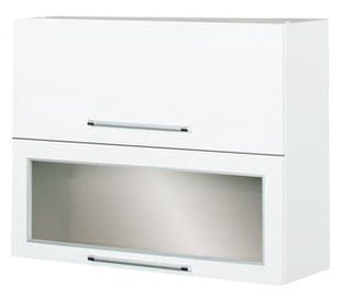 Bodzio Loara Upper Cabinet With Glass 90GDW White