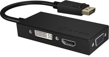 Icy Box Adapter DisplayPort To HDMI/DVI-D/VGA 3-in-1 IB-AC1031