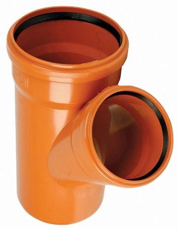 Āra kanalizācijas caurules trejgabals Wavin D110mm, 45°, PVC