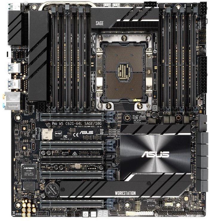 Материнская плата сервера Pro WS C621-64L SAGE/10G